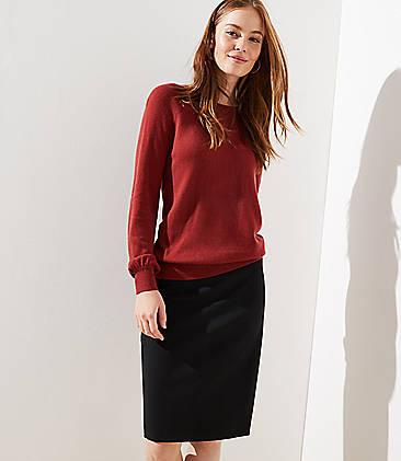 로프트 LOFT Pencil Skirt,Black