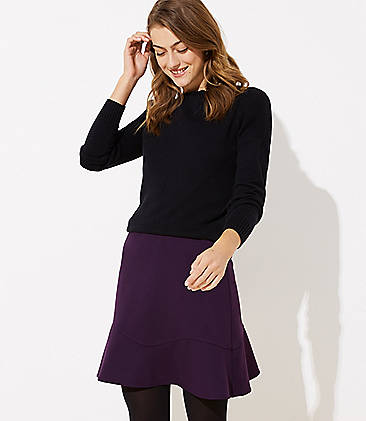 로프트 LOFT Flounce Skirt,Winter Violet