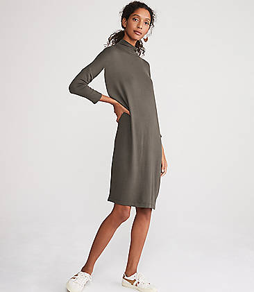 Lou & Grey Turtleneck Signaturesoft Dolman Dress