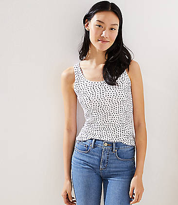 로프트 LOFT Polka Dot Essential Tank,White