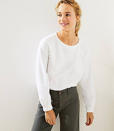 로프트 LOFT Doubleface Sweatshirt,White