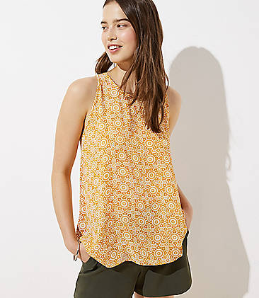 로프트 LOFT Tile Mixed Media Swing Tank,Golden Maple