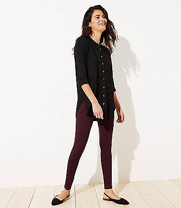 로프트 LOFT High Waist Leggings in Seamed Ponte