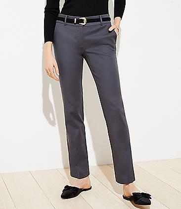 로프트 바지 LOFT Straight Leg Pants in Doubleweave