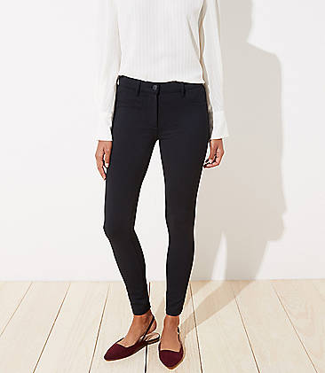 로프트 LOFT 5 Pocket Ponte Leggings,Black