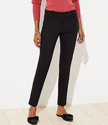 로프트 앵클 팬츠 LOFT Skinny Ankle Pants,Black