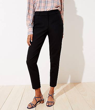 로프트 앵클 팬츠 LOFT Skinny Ankle Pants in Curvy Fit,Black