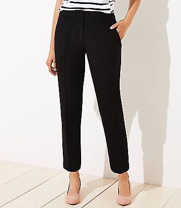 로프트 바지 LOFT Slim Pants in Curvy Fit,Black