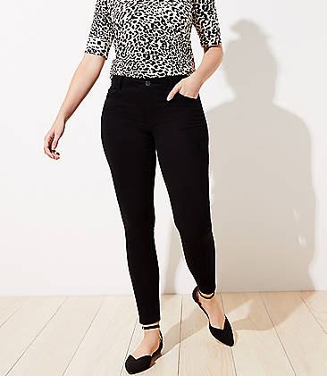 로프트 LOFT 5 Pocket Sateen Leggings in Curvy Fit,Black