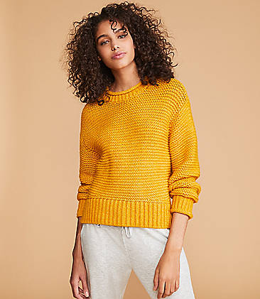 로프트 스웨터 LOFT Lou & Grey Rollneck Sweater,Golden Yellow