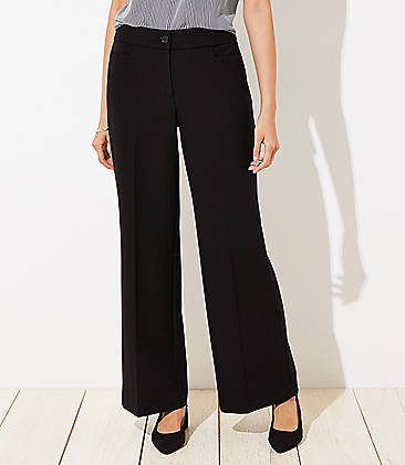 로프트 와이드핏 팬츠 LOFT High Waist Wide Leg Trousers in Curvy Fit