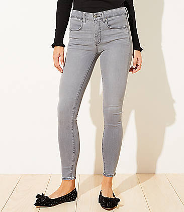 로프트 LOFT Cozy Denim Leggings in Washed Black Wash,Washed Black Wash