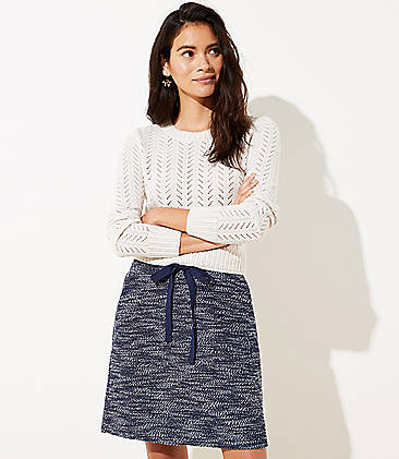 로프트 조거 스커트 LOFT Knit Jogger Skirt,Naval Blue
