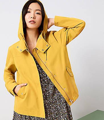 로프트 LOFT Modern Raincoat,Honey Drop