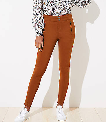 로프트 바지 LOFT High Waist Skinny Sateen Pants,Fresh Espresso