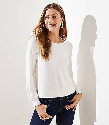 로프트 LOFT Banded Sweatshirt