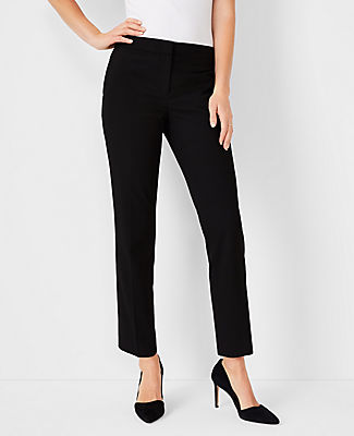A silhouette with lean symmetry and a custom-tailored feel - in seasonless stretch fabric. Front zip with hook-and-bar closure. Front off-seam pockets. Back welt pockets. Ann Taylor The Petite Ankle Pant In Seasonless Stretch