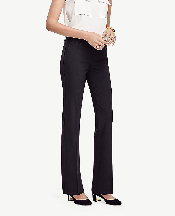 Anntaylor The Petite Straight Pant In Seasonless Stretch - Curvy Fit