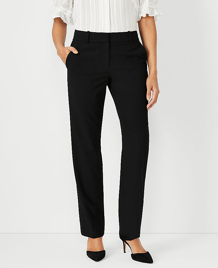 Anntaylor The Petite Straight Pant In Seasonless Stretch - Classic Fit