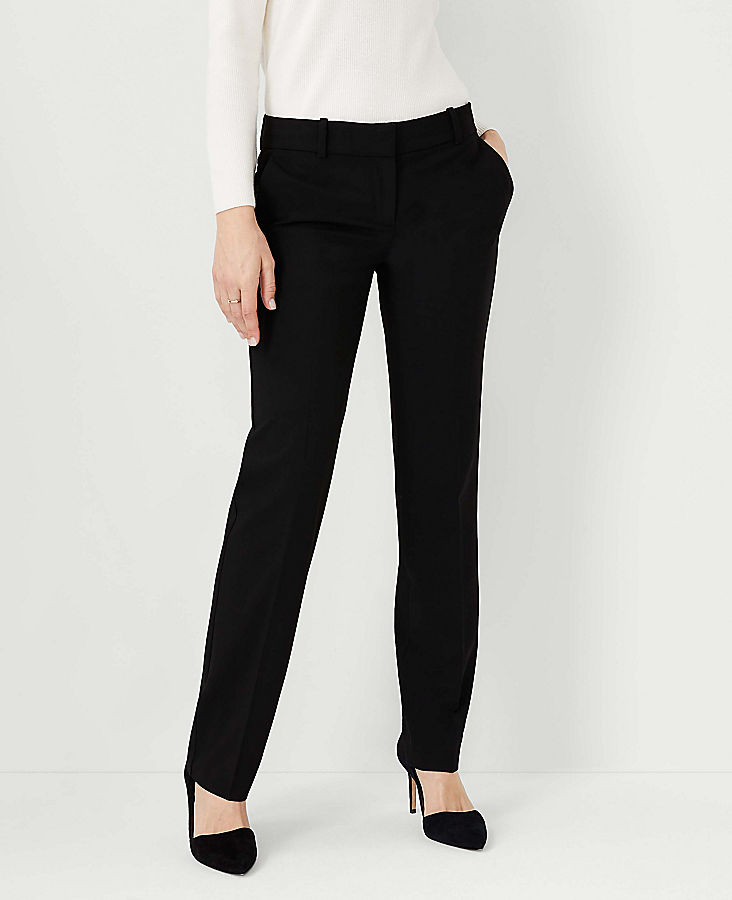 Anntaylor The Petite Straight Pant In Seasonless Stretch