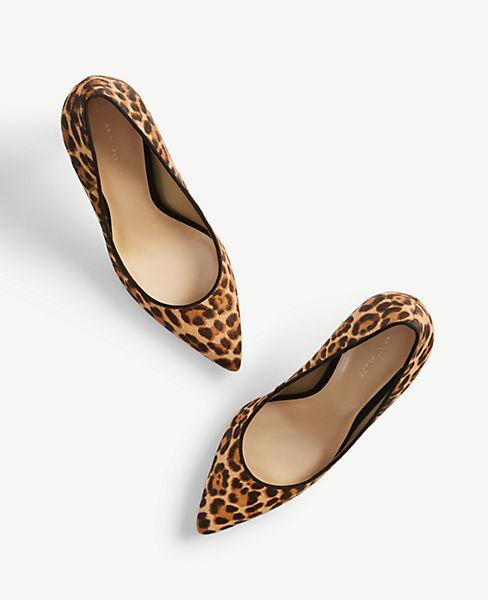 9daec99522 Mila Leopard Print Haircalf Pumps