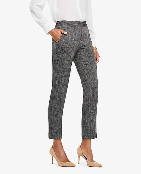 The Petite Ankle Pant In Herringbone - Devin Fit