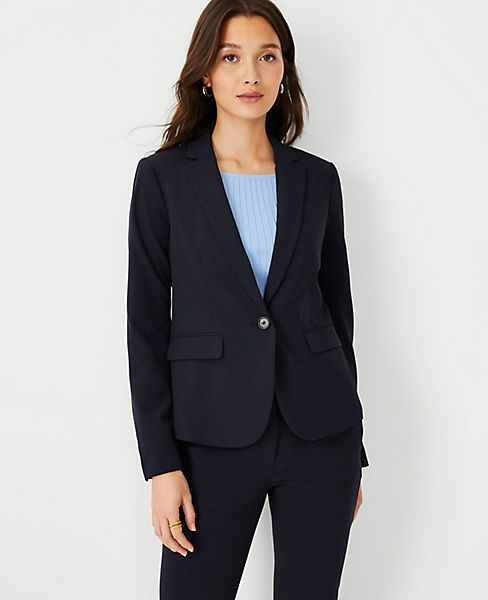 3e6dfdb621dbd0 The Tall One-Button Blazer in Seasonless Stretch | Ann Taylor