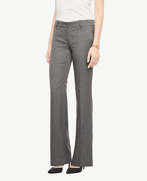 The Petite Trouser Pant In Sharkskin - Curvy Fit