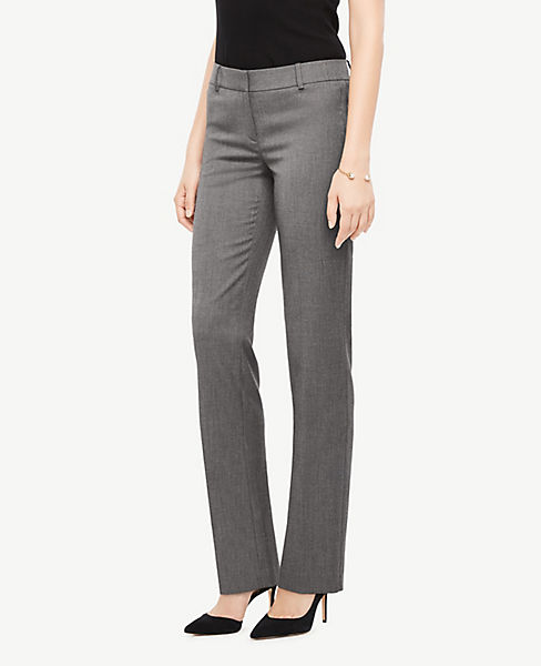 The Petite Straight Pant In Sharkskin