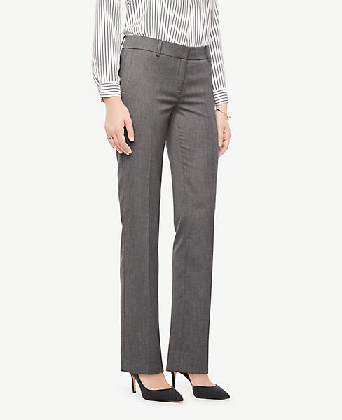 The Petite Straight Leg Pant In Sharkskin - Curvy Fit