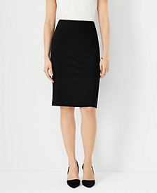 Skirts Ann Taylor Petite Black Stretch Elastic Waist Below Knee Pencil Skirt Sz Pm Clothing, Shoes & Accessories
