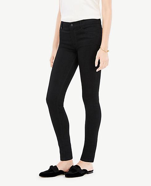 Petite Performance Stretch Skinny Jeans in Jet Black