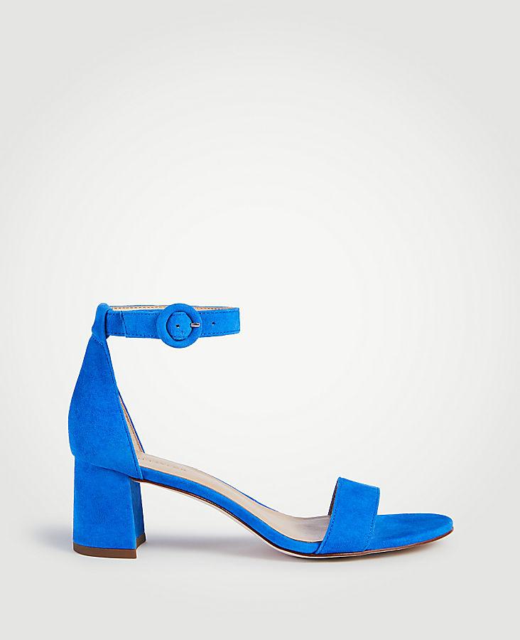 d63566e462 Nicole Suede Block Heel Sandals | Ann Taylor
