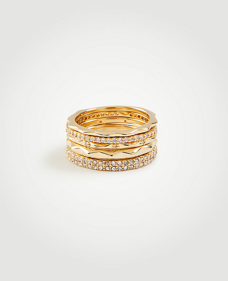 Anntaylor Crystal Stacked Ring Set