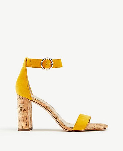 f23fd65c35f Leannette Suede Block Heel Sandals | Ann Taylor