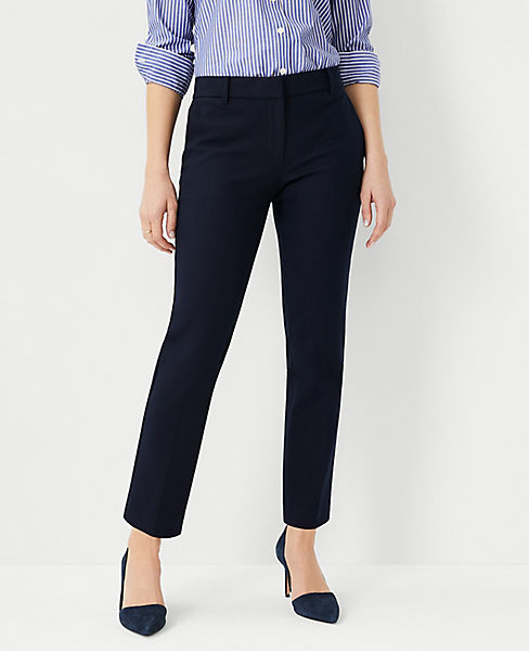The Petite Ankle Pant In Cotton Twill