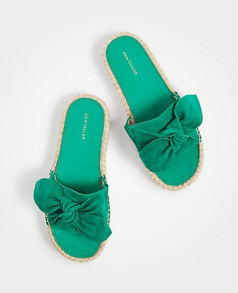 Nellie Suede Bow Espadrille Sandals