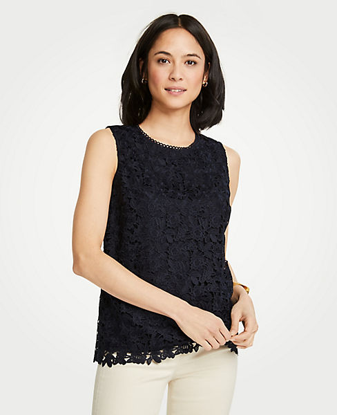 Petite Floral Lace Shell
