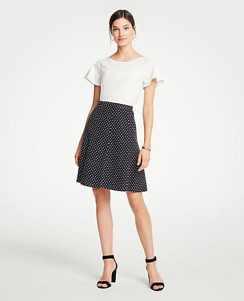 Clip Dot Flare Skirt
