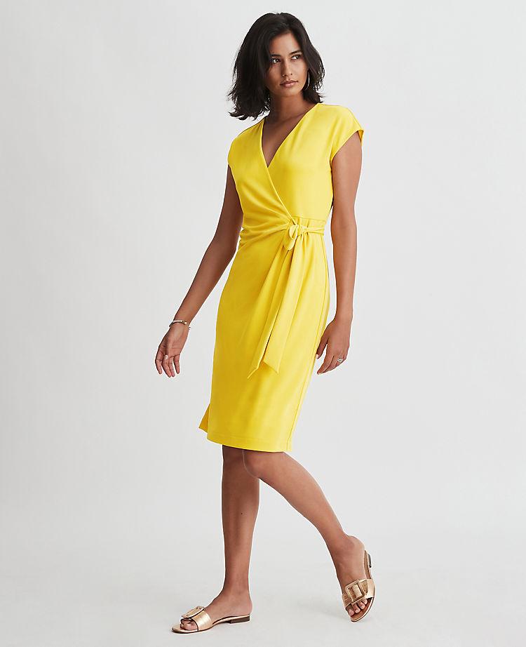 Cap Sleeve Wrap Dress