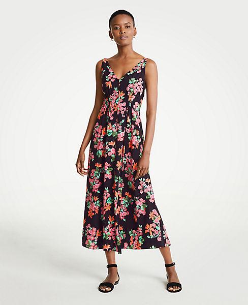 Petite Capri Garden V-Neck Maxi Dress