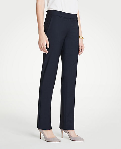 The Petite Straight Leg Pant In Tropical Wool - Curvy Fit