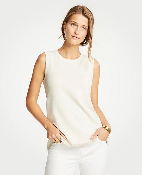 Petite Shimmer Hem Sweater Shell