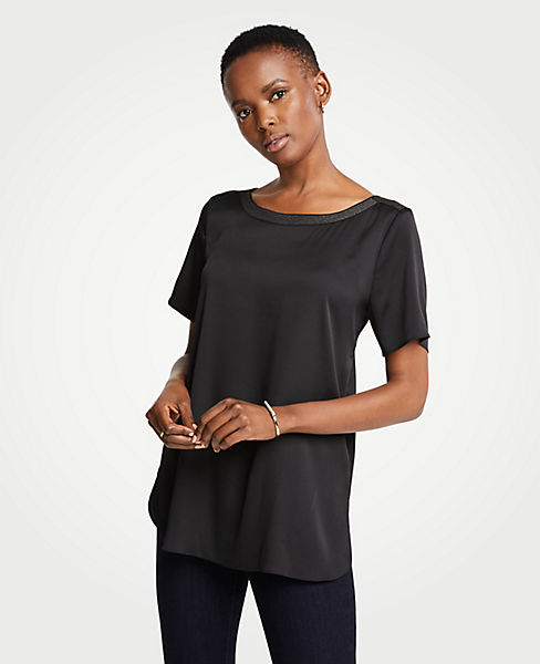 Petite Shirttail Top