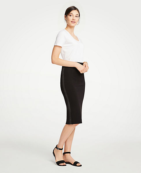 Petite Shimmer Stitched Pencil Skirt