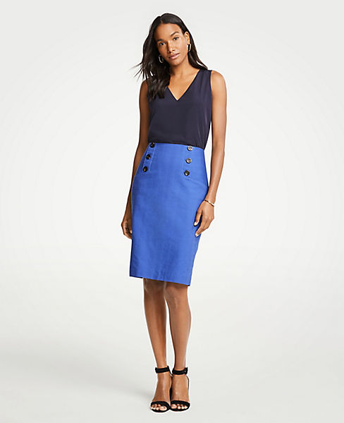 Petite Sailor Pencil Skirt
