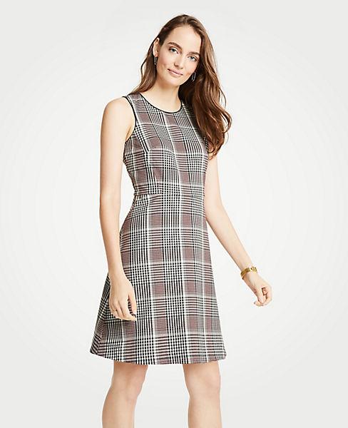 Petite Plaid Flare Dress