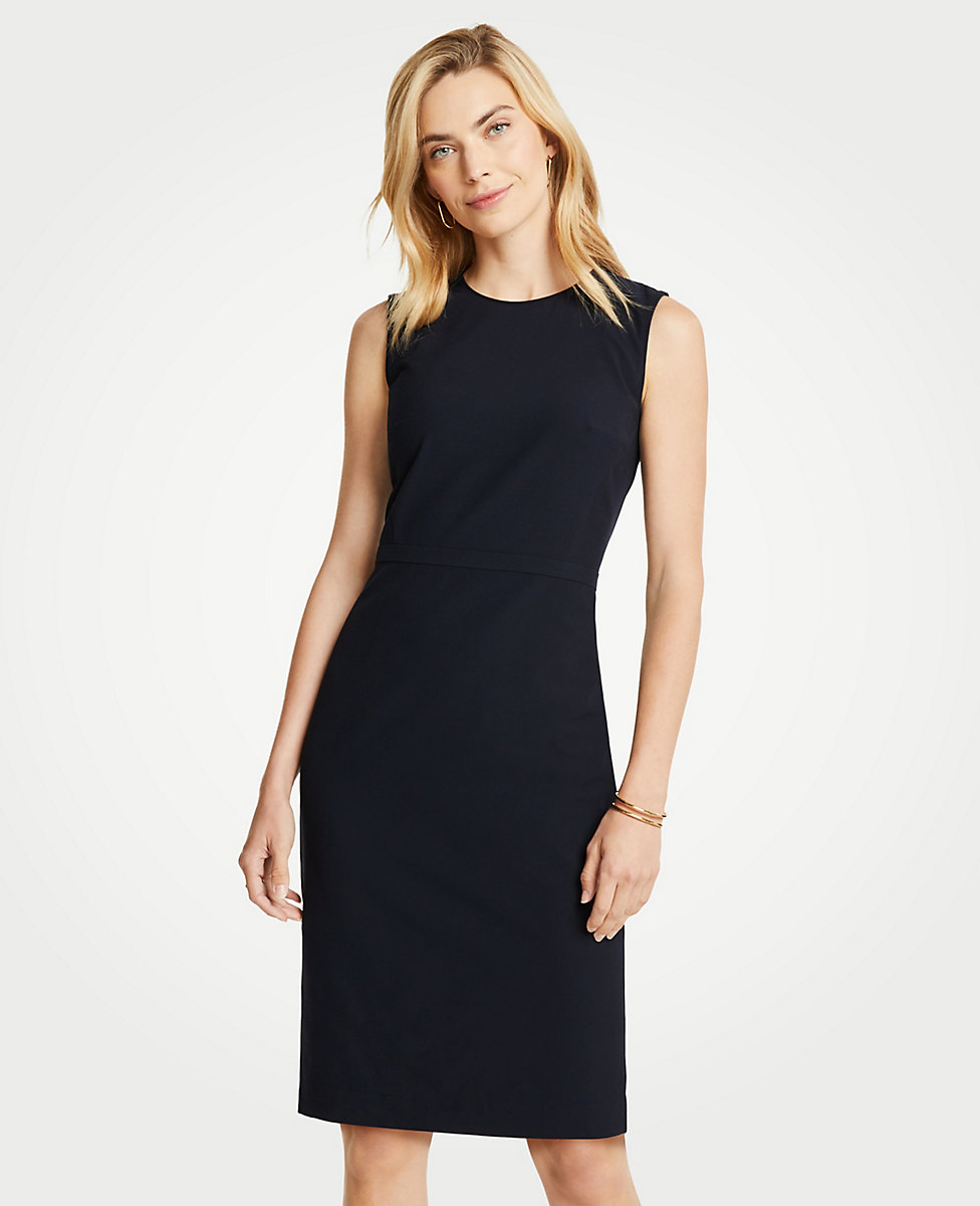 The Crewneck Sheath Dress in Seasonless Stretch