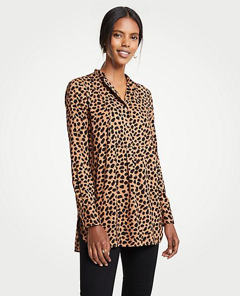 Petite Cheetah Dot Bib Tunic Top