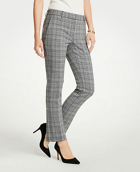 The Petite Ankle Pant In Dash Plaid - Curvy Fit